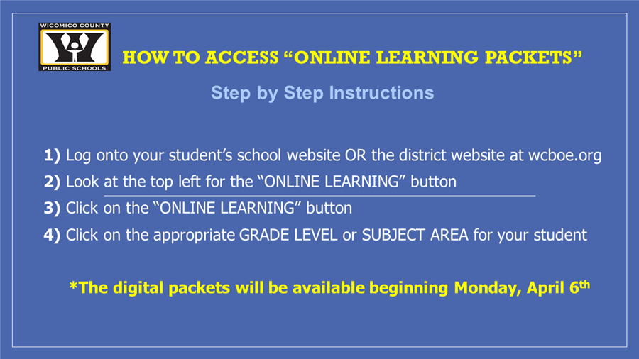 "How to Access ""Online Learning Packet"""