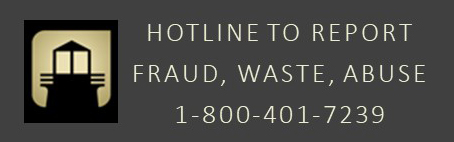 Hotline to Report Fraud, Waste, Abuse