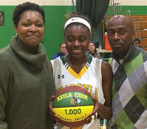 Mardela's Kayla Cook Scores her 1,000 Career Point